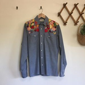 Vintage Embroidered Chambray